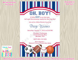 Sport Invitation Card Sports Theme Baby Shower Invitation Invite Sports Baby Shower