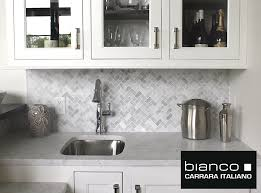 Carrara Marble Mosaic Tile Backsplash Decoration Ideas Interior - Carrara tile backsplash