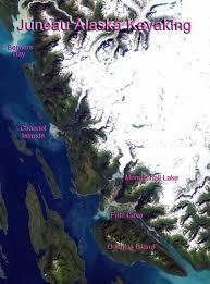 Juneau Alaska Map by Northwest Explorer Juneau Alaska Kayaking