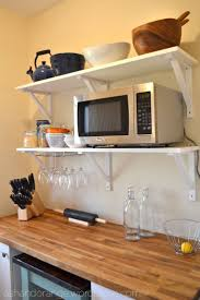 How To Install Kitchen Wall Cabinets by Best 25 Microwave Storage Ideas On Pinterest Microwave Cabinet