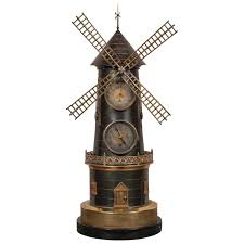 French Home Decor Catalog by French Industrial Animated Windmill Clock For Sale At 1stdibs