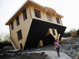 china u0027s upside down house business insider