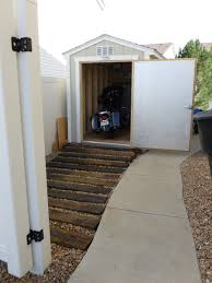 Smith Built Shed by Ramp Built Out Of Railroad Ties Leading To Our Shed Needed To Get