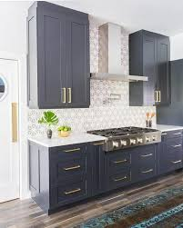 Painting Kitchen Cabinets Blue Interior Blue Grey Painted Kitchen Cabinets Within Marvelous