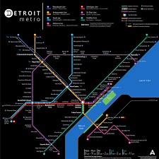 Public Transit Chicago Map by Updated Detroit Metro Transit Fantasy Map Detroitography