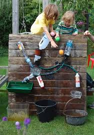 diy backyard games and crafts water walls empty bottles and