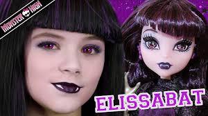 Halloween Doll Makeup Ideas by Monster High Elissabat Doll Makeup Tutorial For Halloween Or