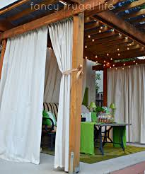 curtains home decor drop cloth outdoor curtain tutorial super easy and looks fabulous