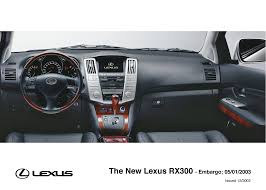 lexus uk rx rx 300 interior 2003 2006 lexus uk media site