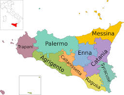 Map Of Italy Regions by File Map Of Region Of Sicily Italy With Provinces En Svg