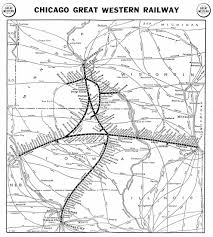 Chicago Line Map by Chicago U0026 North Western Historical Society Maps