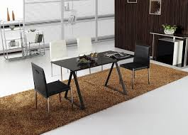 Small Modern Black Dining Table   Chairs - Black dining table for 4