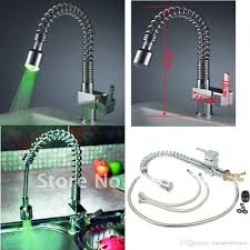 best brass spring pull out led kitchen faucet mixer 160313 under