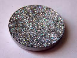 biscuit holographic silver pressed glitter eyeshadow eye