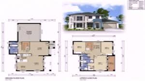 House Plans 2 Story by Floor Plans With Dimensions Two Storey Youtube