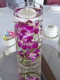 Purple Floating Candles For Centerpieces by Square Mirror Candle Set Centerpiece Purple Iris Submerged