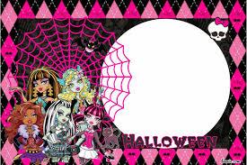 Halloween Free Printable Invitations Free Printable Monster High Birthday Invitations Drevio