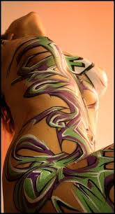 Temporary Graffiti Body Painting