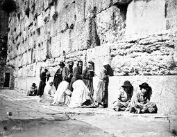 Jewish worshipers at the Western Wall in the     s  Credit  Wikimedia Commons
