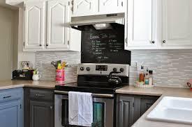 Painted Kitchen Backsplash Photos Remodelaholic Grey And White Kitchen Makeover