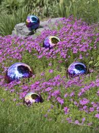 Gazing Ball Fountain Gazing Balls Blue U0026 Purple Set Of 5 Stainless Steel
