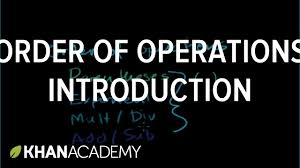 4th Grade Order Of Operations Worksheets Introduction To Order Of Operations Arithmetic Properties Pre