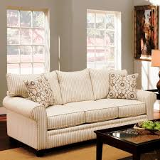 decor stripe pattern oversized couches with table and area rug