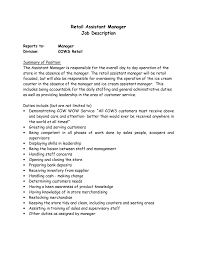 Resume Examples Retail Manager by Furniture Store Sales Resume