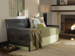 Bedroom Furniture Espresso Finish Mission Daybed With Slatted Arms By Fashion Bed Group Xiorex