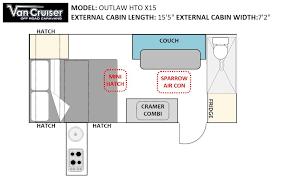 Caravan Floor Plan Layouts Outlaw Hto Single Axle Models Van Cruiser