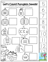 Halloween Preschool Printables Count Cut And Paste Tons Of Fun Printables October