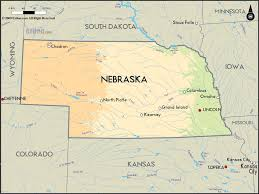 Time Zone Map United States by Geographical Map Of Nebraska And Nebraska Geographical Maps