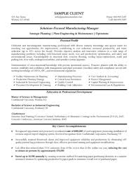 Manager Resume Template  it project manager resume template     happytom co Experienced Manufacturing Manager Resume   manager resume template