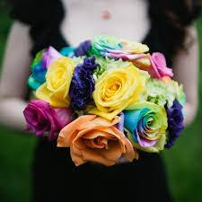 Rainbow Wedding Centerpieces by Wedding Ideas By Color Rainbow Bridalguide
