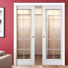 bevelled glass door decima white double pocket doors bevelled glass with chrome camings
