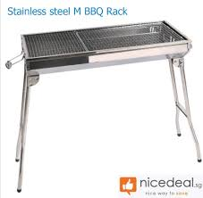 home decor daily deals group buying discounts in sg deals nicedeal home decor deal new stainless steel m bbq rack