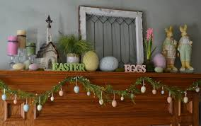 Easter Decorations For Home Fabulous Fireplace Mantel For Easter Decoration Complete