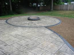 Fire Pit Pad by Fire Pits Stamped Ohio Concrete