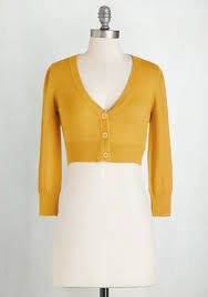 Plus Size Cropped Cardigan The Dream Of The Crop Cardigan In Honey In 3x Modcloth Mustard