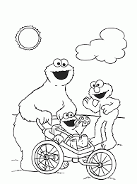 printable coloring pages of the cookie monster coloring home