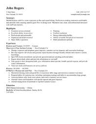Resume Examples For Food Service by Best Host Hostess Resume Example Livecareer