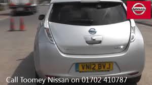 nissan leaf used car vn12bvj nissan leaf ev auto used nissan leaf toomey southend youtube