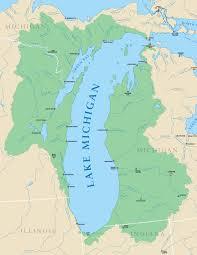 Map Of University Of Michigan by Lake Michigan Michigan Sea Grant