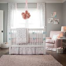 pink and gray rosa baby crib bedding carousel designs baby crib
