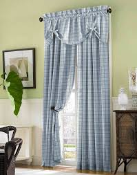 country plaid cotton casual curtain panel curtainworks com