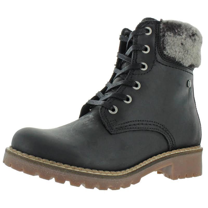 Pajar Panthil Leather Combat Winter Boots Black 38 EU/7-7.5 US