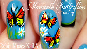 Robin Moses Nail Art by Monarch Butterfly Nail Art Design Spring Butterflies Nails
