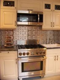 Kitchen Backsplash Examples  Photos Of The How To Apply Faux - White tin backsplash