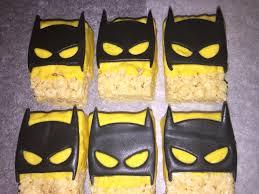 Cake Pops Halloween Ideas by Batman Rice Krispie Treats Tnt Cookie Pops Pretzels Strawberries