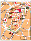 Map of Sopron Attractions | PlanetWare